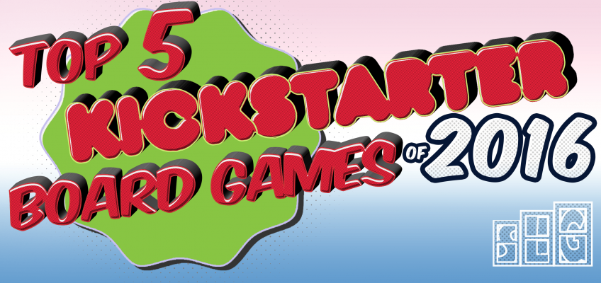 Top Kickstarter Board Games 2016