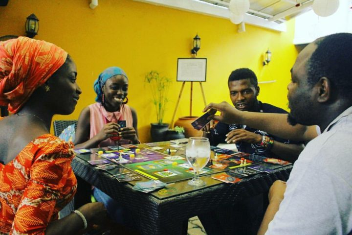 KayCee Games African Boardgame Convention ABCon 2016 with 4 players playing an African boardgame