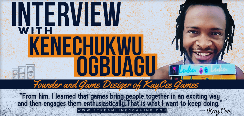 KayCee Games Interview with Kenechukwo Ogbuagu Founder of KayCee Games with a Portrait and Quote