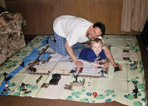 Kerry Keith Murdock playing Realm Warfare with his nephew