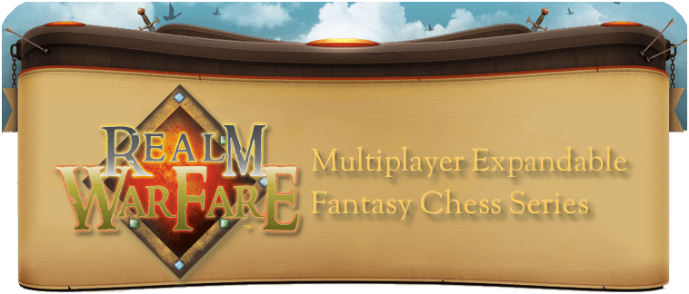 Realm Warfare Multiplayer Expandable Fantasy Chess Series Logo