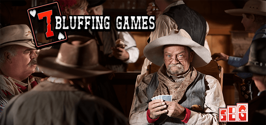 7 Bluffing Games a Cowboys play cards in a Saloon