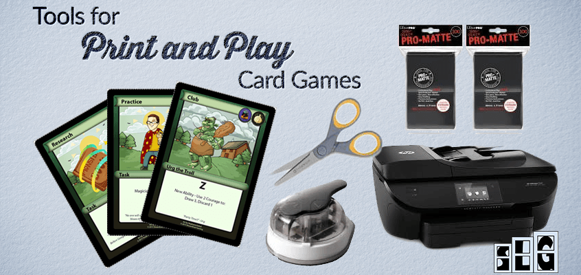 Tools for Print and Play Card Games with Example Items