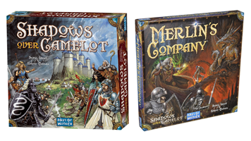 Games with Secret Traitors Shadows Over Camelot Card Merlin's Company
